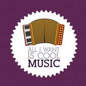 Любовная музыка — Cтоковый вектор