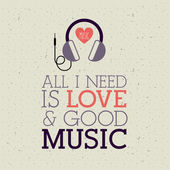 Love  music — Stock Vector