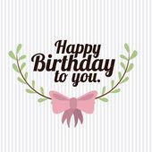 Happy birthday design     — Vector de stock