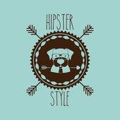 Animal hipster design — Vector de stock