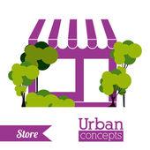 Progettazione urbana — Vettoriale Stock