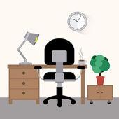Oficina de diseño — Vector de stock