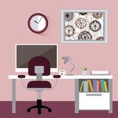 Büroplanung — Stockvektor