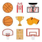 баскетбол дизайн — Cтоковый вектор