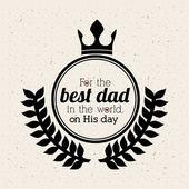 Diseño de día de los padres — Vector de stock