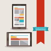 Diseño web — Vector de stock