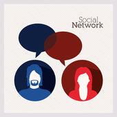 Projekt sieci społecznej — Wektor stockowy