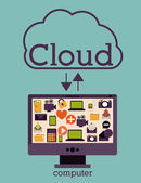 Cloud-computing — Stockvektor