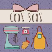 Cook book design — Stockvektor