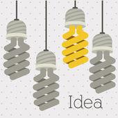 дизайн лампочки — Cтоковый вектор