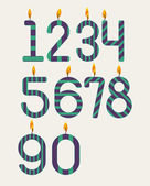 Numbered candles — Stock Vector