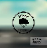 Winter design — Stock Vector