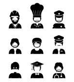 Occupations design — Vetorial Stock