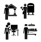 Occupations design — 图库矢量图片
