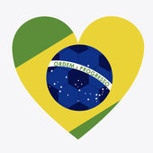 Progettazione del brasile — Vettoriale Stock