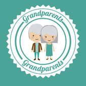 Grand parents design — Stock Vector