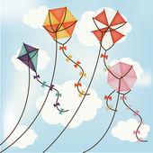 Kite designu — Stock vektor