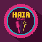 Vlasy salon designu — Stock vektor