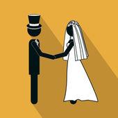 Projekt ślub — Wektor stockowy