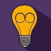電球のデザイン — ストックベクタ