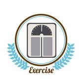 Fitness design — Stock vektor