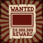 Wanted design — ストックベクタ