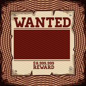 Wanted design — Vector de stock