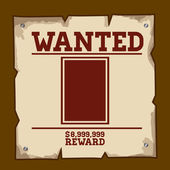 Wanted design — Stockvector