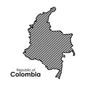 Colombia design — Stock Vector