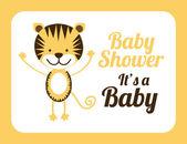 ベビー シャワーの設計 — ストックベクタ
