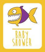 Baby shower design — Vecteur