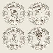 フルーツ デザイン — ストックベクタ