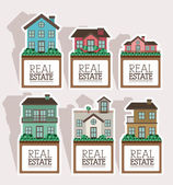 Real estate design — Stock Vector