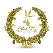 Olive oil design — Stok Vektör