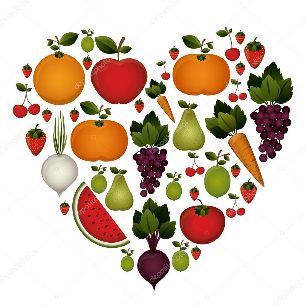 食品在白色的背景,矢量图的设计