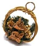 Christmas decorative basket — Stock Photo #10960810