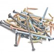 Set of screws — Stock Photo