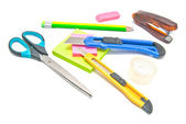 Many different stationery — Stock Photo