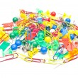 Stock Photo: Stationery pins and paperclips