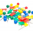 Stock Photo: Colorful stationery pins