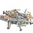 Many different screws — Stock Photo