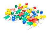 Colorful stationery pins — Stock Photo