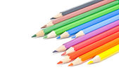 Colorful pencils on white — Stock Photo