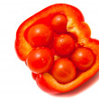 Fresh pepper and cherry tomatoes — Stock Photo #9663929