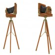 Side views of vintage large format camera — Stock Photo #6542676