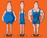 Body transformation — Vettoriale Stock