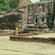 Stock Photo: BuddhStatue in Gal PotTemple, Polonnaruwa
