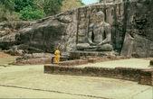 Buddha Statue in Gal Pota Temple, Polonnaruwa — Stock Photo