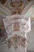 интерьер барокко церковь — Стоковое фото