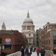 St Paul's Cathedral and Millennium Bridge, London — Stock Photo